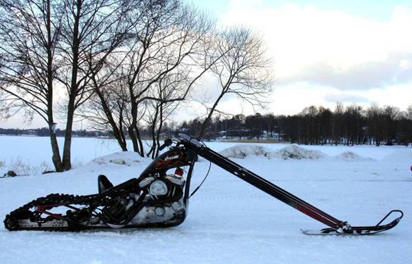 Зимний мотоцикл своими руками 23